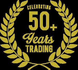50 year trading emblem