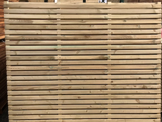 CONTEMPORARY DOUBLE SLATTED PANELS