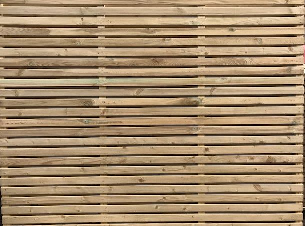 CONTEMPORARY DOUBLE SLATTED PANEL